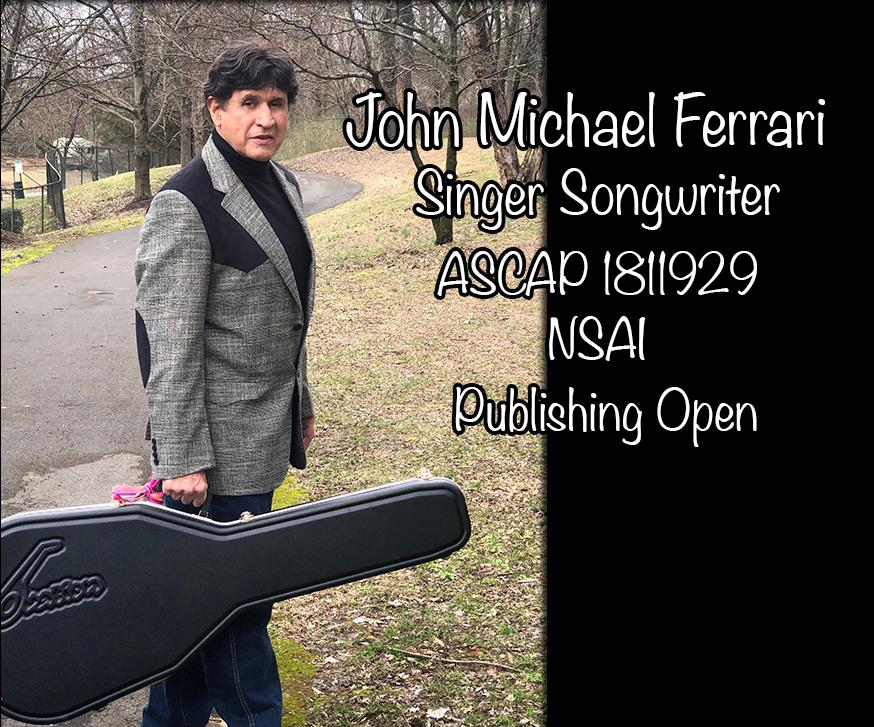 site slate John Michael Ferrari & guitar